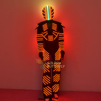 2017 LED clothing, clothing robots, remote control color clothing, RGB color changing clothes