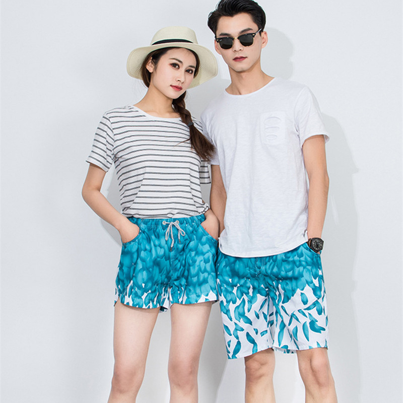 Couple's Beach Board Shorts Men & Women Swimwear Swimming Trunks Surfing Swim Shorts High Quality Breathable Swimsuit Bermudas