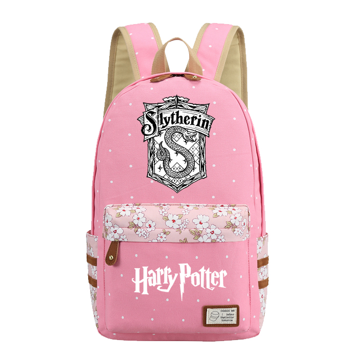 Kimikoy Cute Harry Potter Hogwart Backpack Flower Rucksacks Student School Bag Daypack College Bag