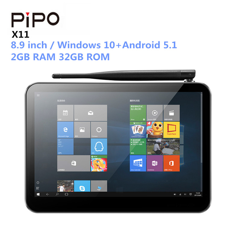 Pipo X11 Mini PC 8.9 pouces Tablet PC IPS Windows 10 + Android 5.1 Intel Cerise sentier Z8350 1.92 GHz 2 GB RAM 32 GB ROM 1920*1200 IPS
