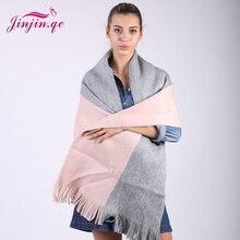 2017 New fashion Trend Women cashmere scarf Striped Shawls and Scarves Patchwork Girls pashmina echarpe foulard
