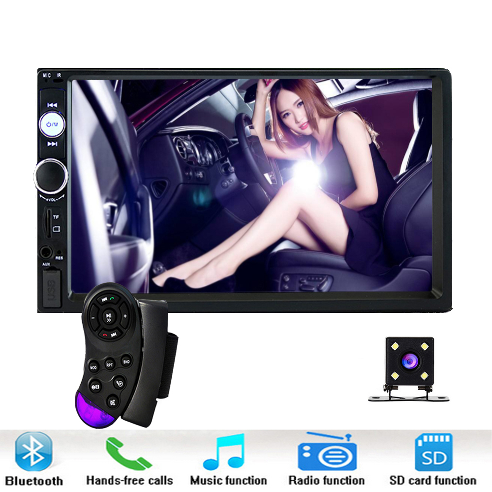 2 din Car MP5 MP4 Multimedia Player FM Auto Radio 7 Touch In Dash Autoradio Bluetooth Rear View Camera Remote Control 7023B 7 inch 2 din 7021g car mp5 player gps navagation bluetooth auto multimedia player with fm radio rear view camera remote control