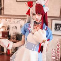 Anime My Hero Academia Midoriya Izuku Todoroki Shoto Bakugou Katsuki Kaminari Denki Maid Dress Uniform Cosplay Costume