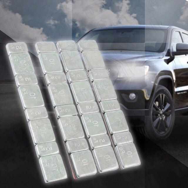 32 個自動車車のタイヤ ddiagnostic ツールバランスバータイヤオートバイツールキットグラム鋼各スティックにホイールバランサー重量