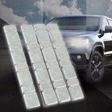 32pcs 자동차 자동차 타이어 진단 도구 균형 막대 타이어 오토바이 도구 키트 그램 스틸 각 스틱 온 휠 밸런서 무게