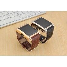 หรูหราหนังนาฬิกาข้อมือสมาร์ทDM360Y,โทรศัพท์นาฬิกาสมาร์ทที่มีPedometer SIM NFCสำหรับA Ndroid IOSของขวัญคริสต์มาส