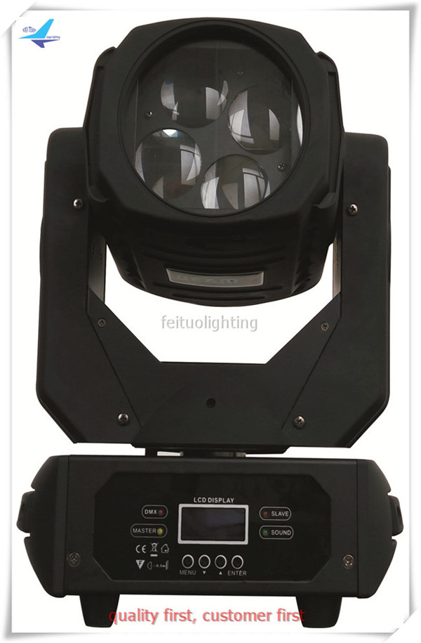 A-12/lot led moving head wash beam 4x25W Super Beam LED Moving Head Lights Disco Party Club Effect Fixture