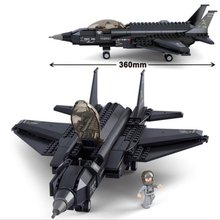 Funko  Army Helicopter Military fighter f 35 Carrier-Based Minifigure Building Block Toy Aircraft Model Compatible Legoelied
