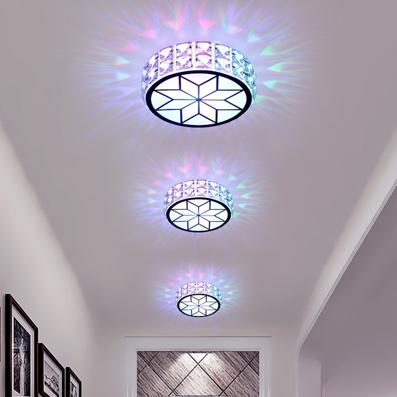 Modern LED crystal aisle lights corridor lights porch lights simple ceiling lamps round balcony Colored ceiling lights кеды diesel y01646 pr480 t1003