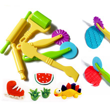New 6 Pcs Color Play Dough Model Tool Fimo Polymer Clay Creative 3D Plasticine Tools Playdough
