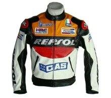 ДУХАН Moto Racing Куртки мотоцикл GP REPSOL мотоцикле Кожаная Куртка Высокое Качество PU кожа orange and blue