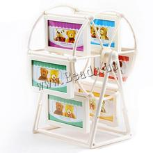 Home Decor White Ferris Wheel Rotate Picture Frames European Large Windmill Children Room Photo Wedding For Living