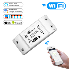 DIY WiFi Smart Light Switch Universal Breaker Timer Wireless Remote Control Works with Alexa Google Home Smart Home 1 Piece cheap Switches ROHS 2 year APP control NF101 APP remote control Plastic MoesHouse Neutral+Live wire AC 110V-250V 50-60Hz 1800W