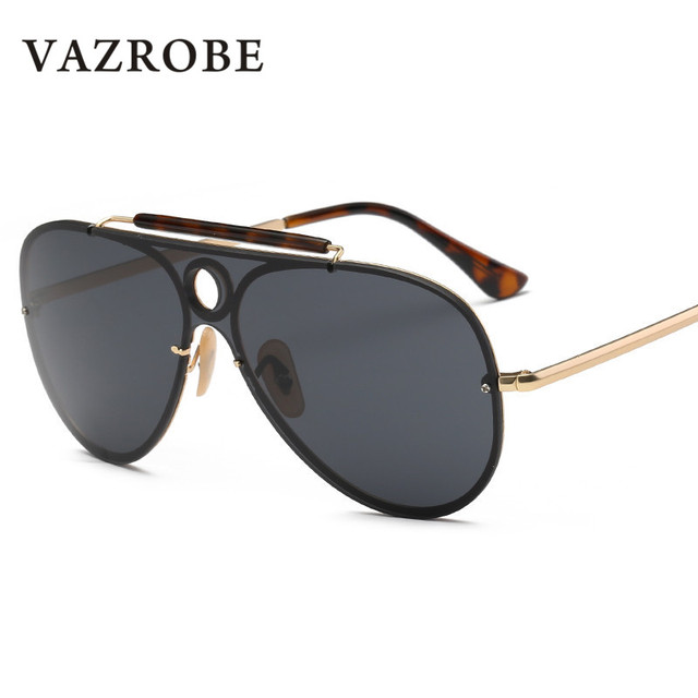 Vazrobe Brand Mens Sunglasses Oversized Sun Glasses for Women Flat Top Lens  Shades 2018 Designer Mirrored Sunglass Male Large 859908c040