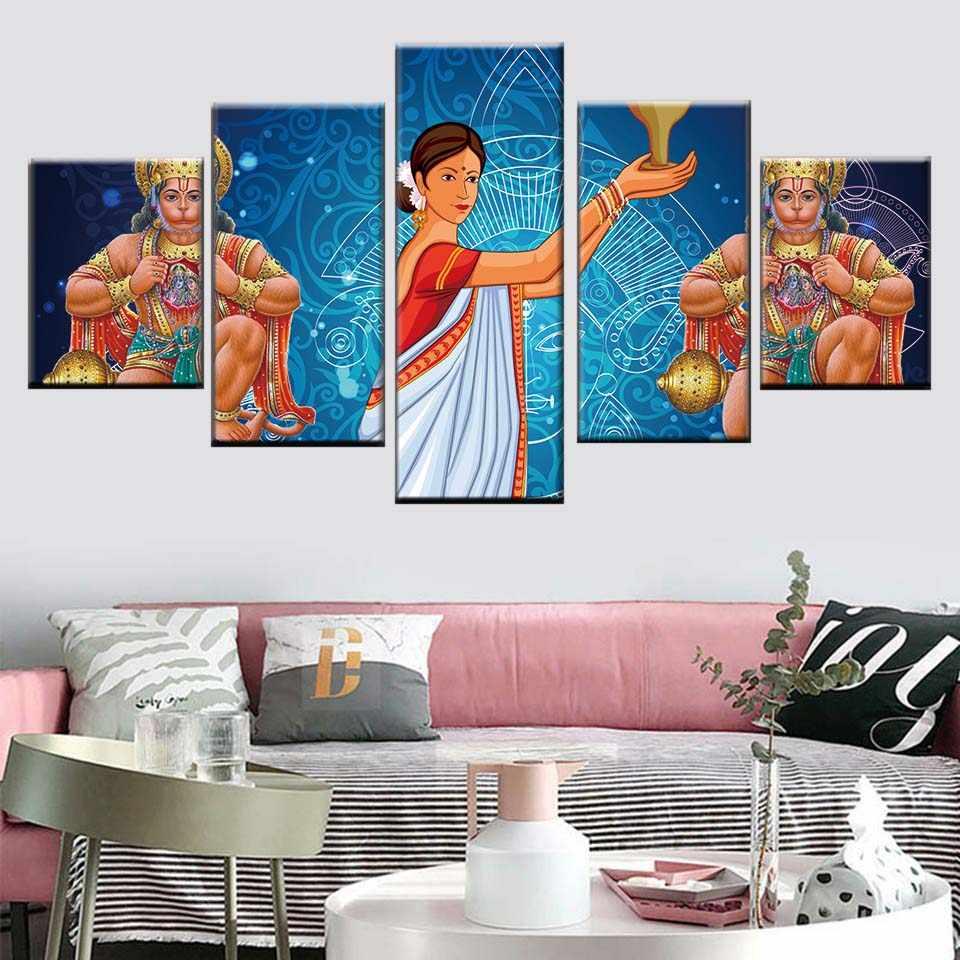 beautiful room decoration hanuman paper poster