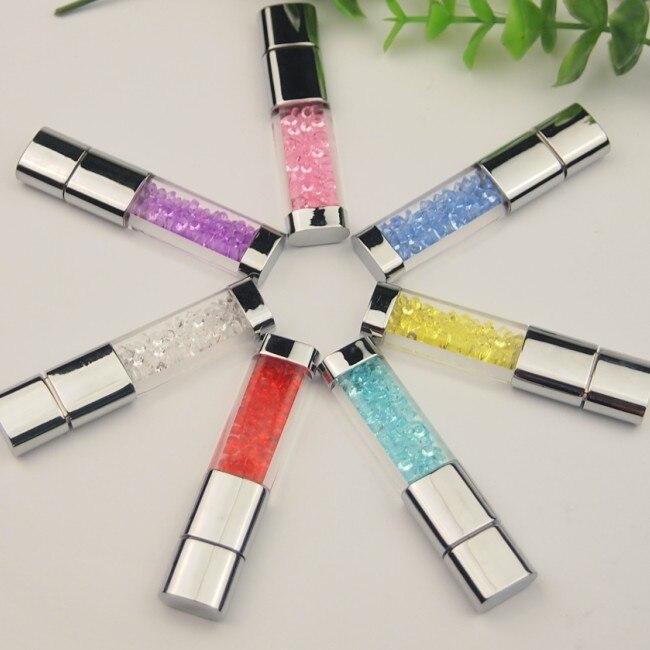 Crystal LED light Pen drive 128MB 4GB 8GB 16GB 32GB gadget USB pendrive 64GB Custom USB