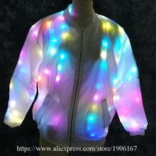 Красочный свет для ночного клуба и вечеринок для танцев костюм световой Костюмы для бальных танцев Костюмы свет updj куртка Одежда для танцев