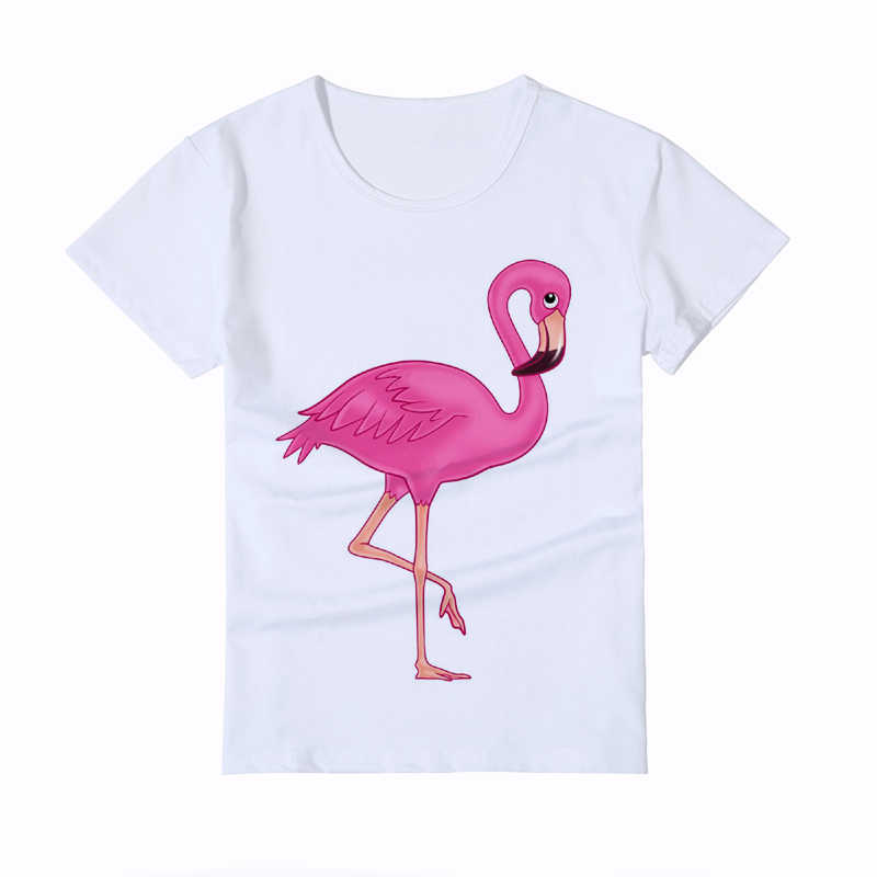 2c2eebd26d Cute Flamingo painting design Children s tshirt girl white casual Kid T-Shirt  Boy Short Sleeve
