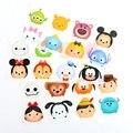 10 conjuntos lote tsum tsum mini figuras Dumbo Minnie Donald Duck Winnie etiqueta dos desenhos animados etiqueta decoração de vidro presente frete grátis