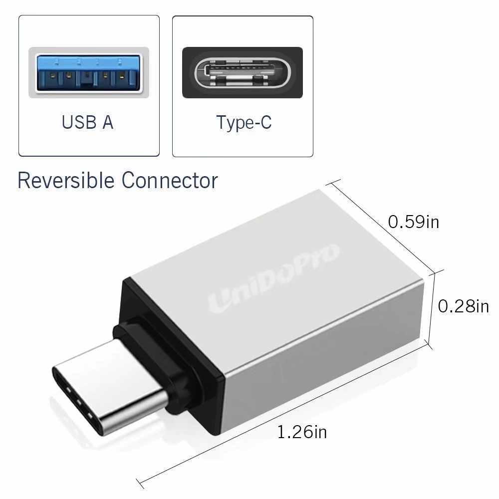 USB C Adapter to USB A 3 0 OTG Type C Converter for Onkyo Granbeat DP-CMX1  ,Meitu M8 T8