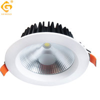 Knob Switch Led Downlight Dimmable Aluminum Foyer Kitchen Dining Room Ceiling Spot Light Non-dimmable 220V Led Recessed Lights