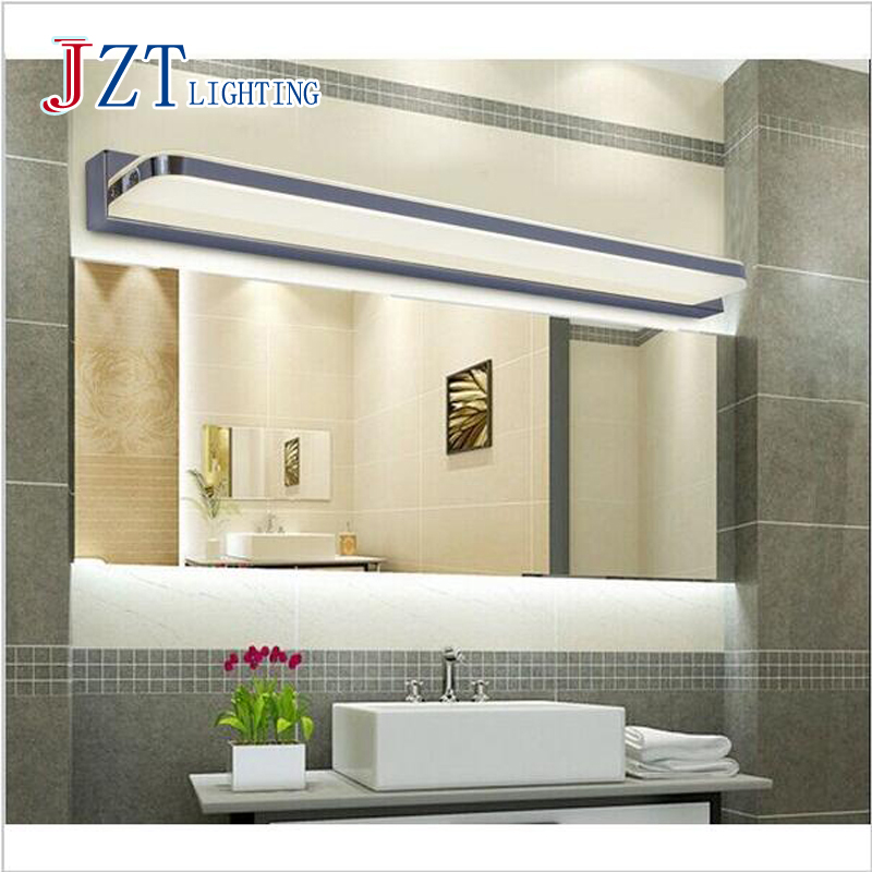 Z Modern 45CM 120CM Mirror Light LED Bathroom Wall Lamp Mirror Glass Waterproof Stainless Steel Cabinet