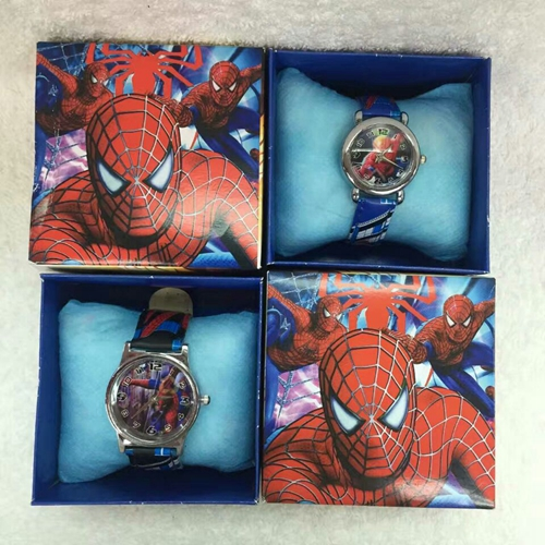 20Pcs Spider Man kids boys girls children cartoon quartz Children Wristwatch Watches With Boxes Party Favors