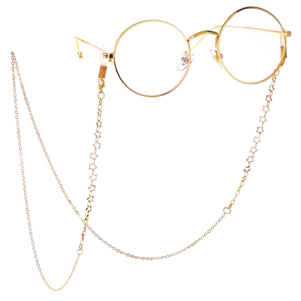 Gold Metal Eyeglasses Chain Womens Safety Eyewear Sunglasses Holder Eyeglass String Glasses Cord Lanyard for Women Men