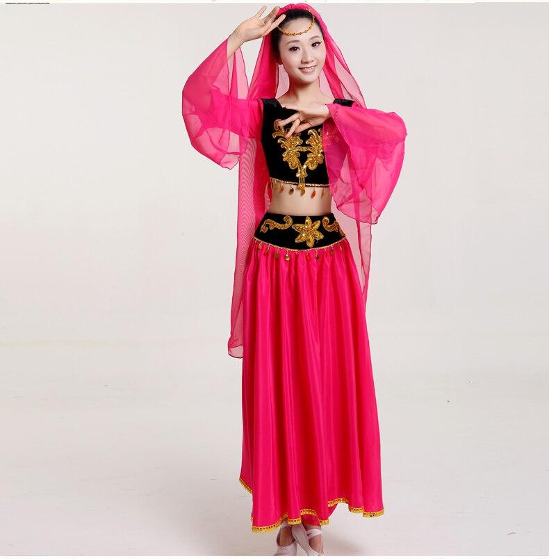 35d631be88d5 Chinese folk dance minority costume dance skirt Uighur costumes ...