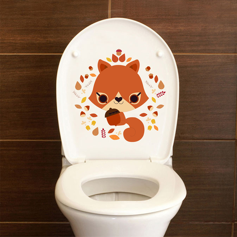 ZOOYOO® Cute Fox With Flower Circle Wall Sticker For Home Decorations Accessorie