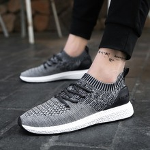 Men Fashion Breathable Casual Shoes Mixed Color Fly Weave Outdoor Sport Walking Shoes Mens Trainers Zapatillas Deportivas Hombre