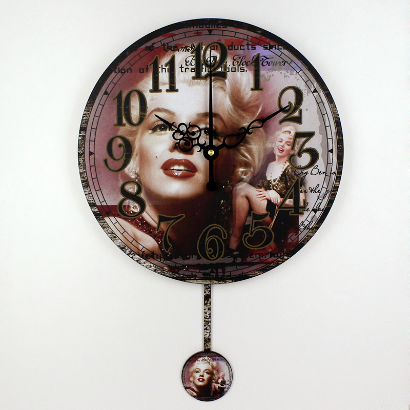 Marilyn Monroe Home Decoration Watch Wall Fashion Silent Bedroom Decor 3d Wall Clock Modern Design Unique Gift Orologio Parete