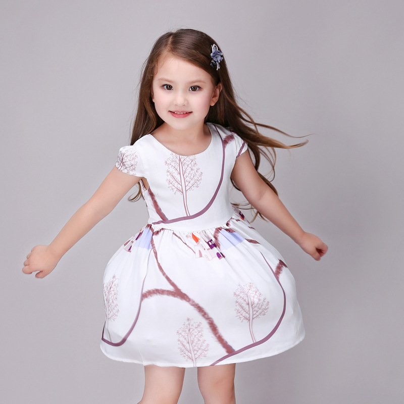 Подробнее о Print girl dress 2016 brand kids dresses for girls sleeveless baby girl clothes summer children clothing vestido infantil baby girl dress 2016 brand girls summer dress children clothing lemon print kids dresses for girls clothes robe princesse fille