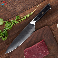 FINDKING 2017 New G10 handle damascus knife 8 inch Professional chef knife 67 layers Japanese damascus VG10 steel kitchen knives