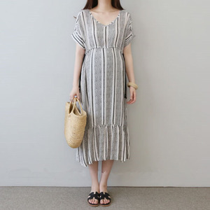 Image 1 - Cotton Pregnancy Dresses Gravidas Vestidos Print Maternity Dresses For Pregnant Women Clothes Maternity Summer Dresses Clothing
