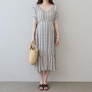 Image 1 - Vestidos de algodón para embarazo Vestidos impresos Vestidos de maternidad para mujeres embarazadas ropa de maternidad Vestidos de verano ropa