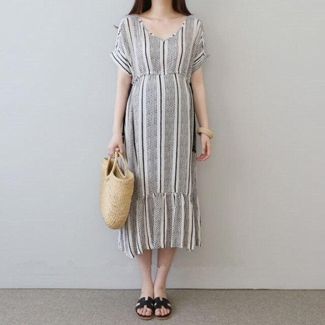 Vestidos de algodón para embarazo Vestidos impresos Vestidos de maternidad para mujeres embarazadas ropa de maternidad Vestidos de verano ropa