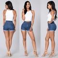 Plus Size Verão Denim Shorts Jeans Shorts de Cintura Alta Retro Mulheres Casual Costume Slim Fit Curto Feminino Mujer Pantalones Cortos