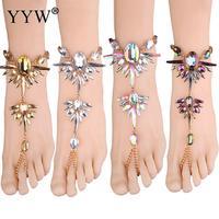 Fashion 2017 Ankle Bracelet Wedding Barefoot Sandals Beach Foot Jewelry Sexy Pie Leg Chain Female Boho