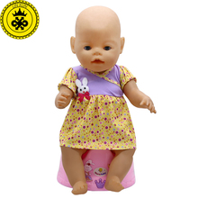 Zapf Baby Doll Clothes 6 Styles Cute Princess Skirt Dress fit 43cm Doll Baby Doll Accessories