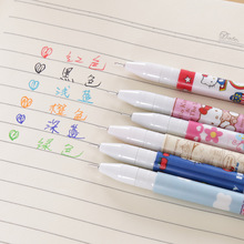 6Pcs/set Gel Pen Cute Stationery Kawaii Office And School Supplies Pens Refills  Alcohol Markers