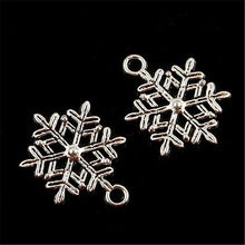 Jewelry diy hand made 30pcs 20*15mm Tibetan Silver snowflake Bead Charms Pendants Fit Bracelet necklace Accessory findings