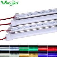 5 unids/lote 50 cm U shell de aluminio DC 12 V 36 SMD 5630 LED rígido LED barra de luz con Cubierta de la PC