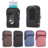 Belt Clip Holster Leather Pouch Sport Bags 2 Pockets Universal Holster Phone Case For Samsung Galaxy