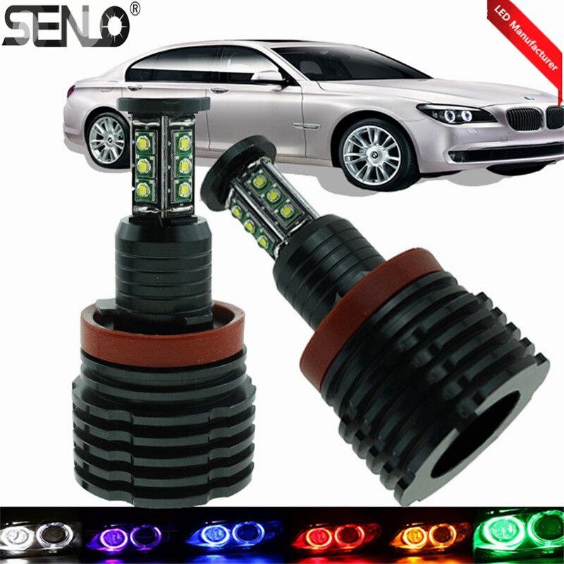 Nouveau produit Fit BMW E92 H8 LED ange oeil 60 W 6000 k haute puissance marqueur ange yeux pour BMW E60 E70 E90 E92 E93 voiture accessoires