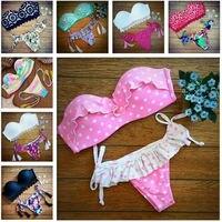 POLOVI 2015 Latest Push Up Women Swimsuits Bathing Suit Sexy Brazilian Bikini Bottoms Swimwear Hot Sale