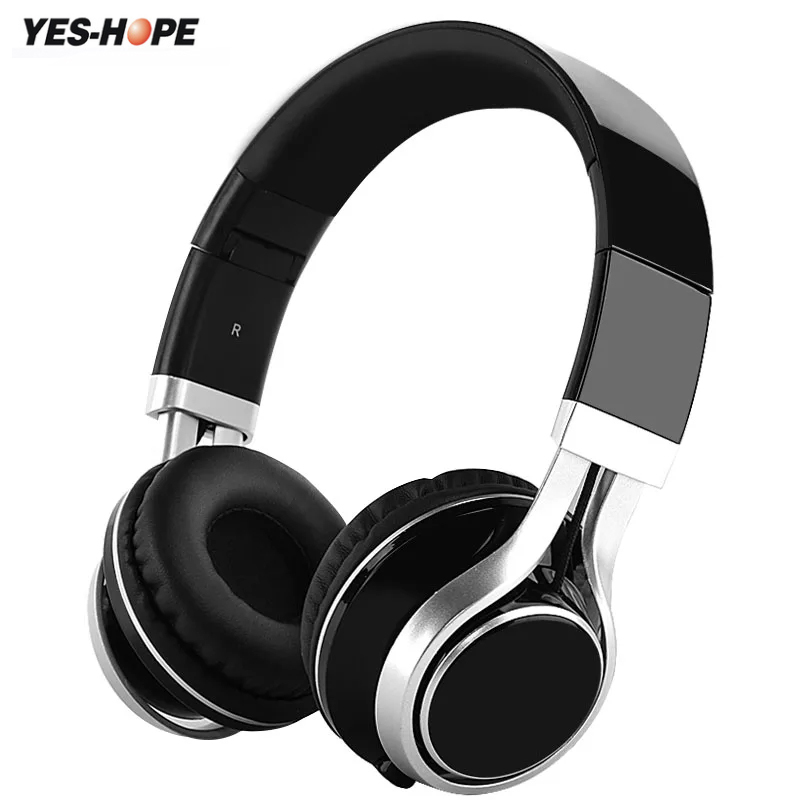 YES-HOPE Estéreo plegable Auriculares Inalámbricos Bluetooth Auriculares Deporte Auricular Inalámbrico Micrófono Gaming Auriculares Audifonos