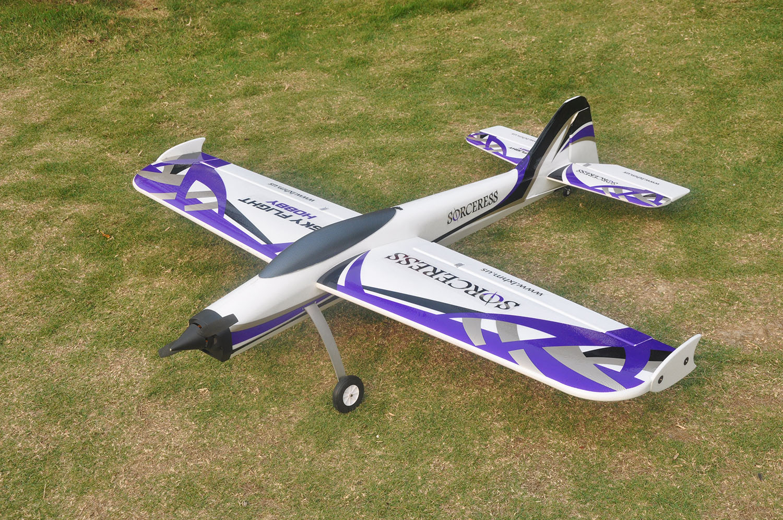 SkyFlight LX RC Jet 1.4M Sorceress KIT Propeller RC Plane W/O Motor Servos ESC Battery