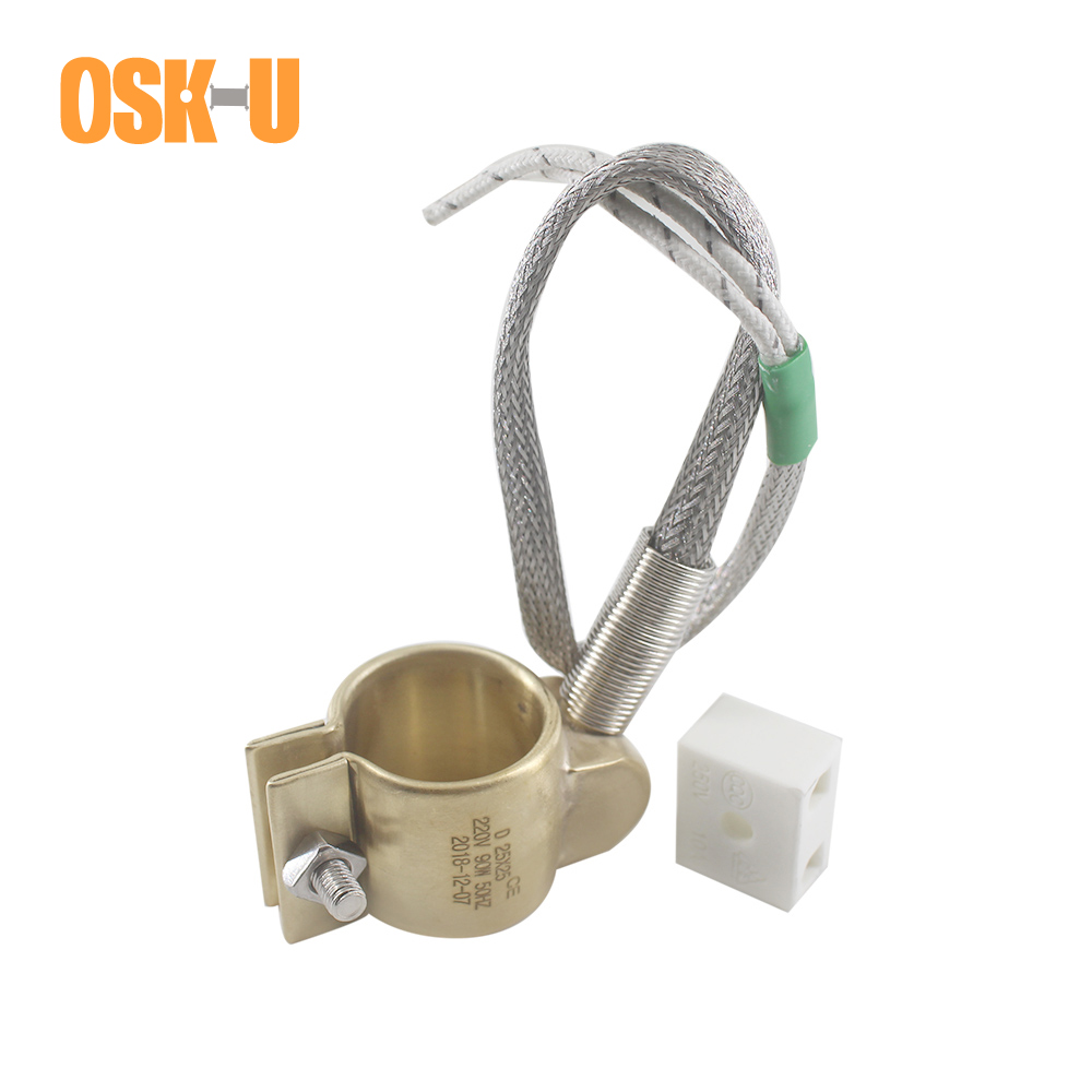 110V 250W Water Heater Parts 42x50mm Injected Mould Heating Element Brass Band