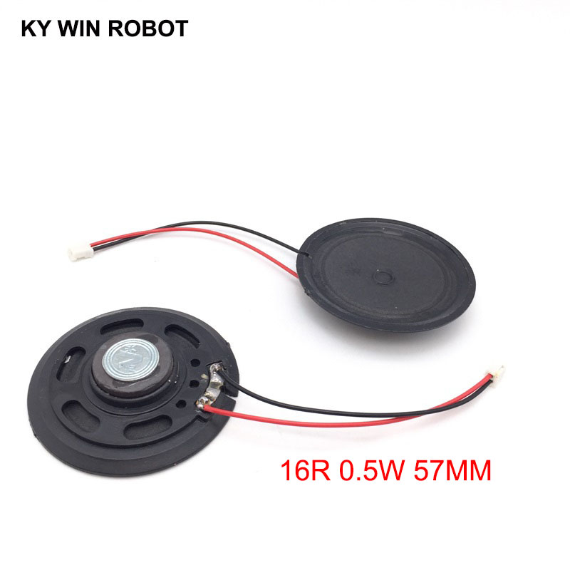 2pcs New Ultra-thin Speaker Doorbell Horn Toy-car Horn 16 Ohms 0.5 Watt 0.5w 16r Speaker Diameter 57mm 5.7cm Thickness 10mm Bright In Colour Acoustic Components Passive Components
